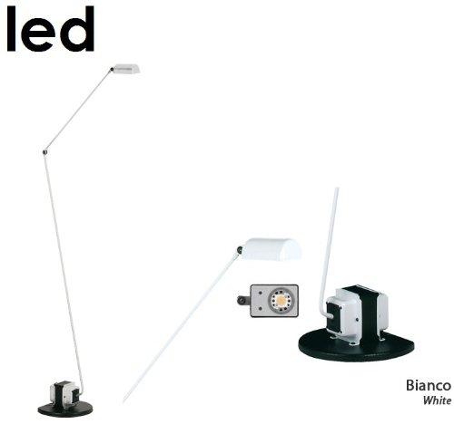 Lumina Daphine Terra LED vloerlamp, wit mat metaal tweetraps schakelaar 3000K met dimmer