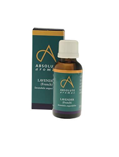 Absolute Aromas Aceite Esencial Francés de Lavanda 100ml - 100% Puro, Natural, Sin Diluir y Libre de Crueldad - Para uso en Difusores y Mezclas de Aromaterapia (30ml)
