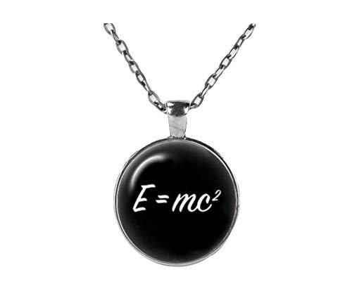 Handgefertigt Anhänger Ketten, anpassbare Bilder E = mc Halskette, Wissenschaft, Physik Anhänger, perfekte Geschenk