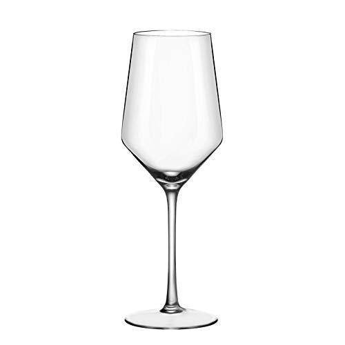 ADMY Copa de vino, vino blanco, 1 unidad, 410 ml, copa de vino tinto, copa de vino blanco, de cristal, copa de champán, universal, como regalo para Navidad o cumpleaños