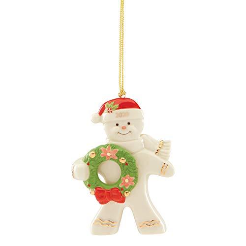 Lenox 2020 Gingerbread Ornament, 0.30 LB, Ivory