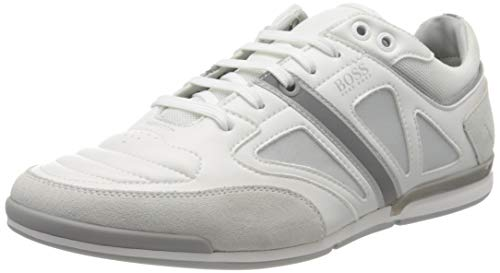 BOSS Herren Saturn_Lowp_strf 10214531 01 Sneaker, Weiß (White 100), 43 EU