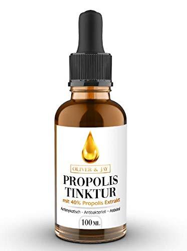 Propolis Tinktur mit 40{3f9f4b9539bb534dc108c8c9cba64fffa2be394fd7dce125de6743f71e9cdf41} Propolis Lösung, 100ml reines Propolis zur Herstellung zahlreicher Propolis Produkte