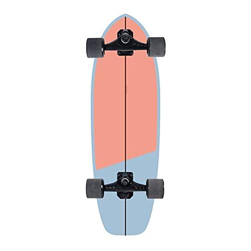 Skateboards Skateboards, 75 * 23.5cm Skateboard de surf de tierra para adultos adolescentes, tablero de skate Cruiser de arce, incluyendo ruedas de PU, patrón de bricolaje colorido, rodamiento, camión