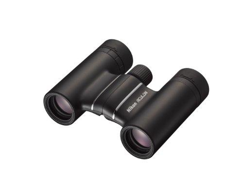 Nikon Aculon T01 10X21 - Binoculares (ampliación 10x, ecocristal, pupila de Salida 2,1 mm), Color Negro