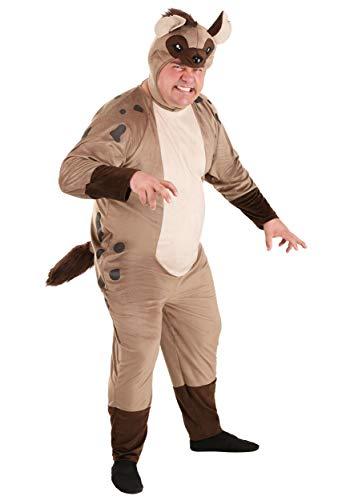 Disfraz de Hiena para adulto de talla grande. - marrn - 2X