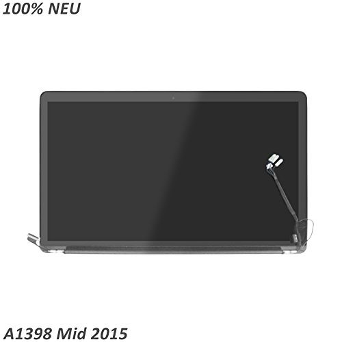LCDOLED® 15.4 Zoll LED LCD Bildschirm komplett Assembly Display Einheit für Apple MacBook Pro Retina 15 A1398 mid 2015 Middle 2015