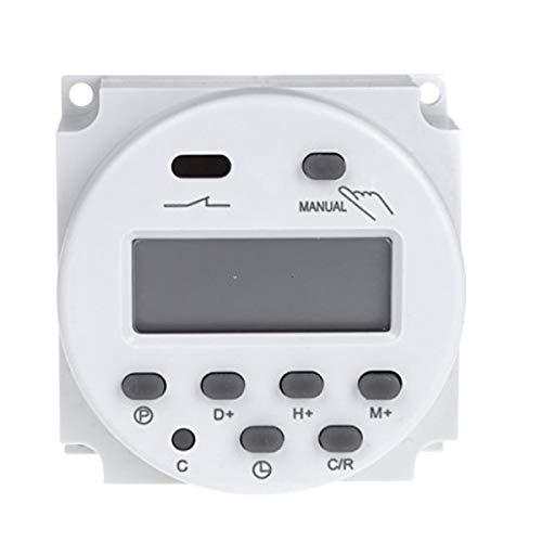 Vosarea Programmierbarer Multifunktionszeitschaltuhr Mini Größe 240V AC 12V DC
