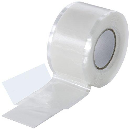 Poppstar - Cinta de silicona de autofusión, 1 x 3 m, ideal como cinta de reparación, cinta aislante y cinta de sellado (estanca, hermetica), 25mm de ancho, color blanco