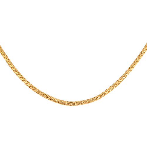22K Yellow Gold Spiga Necklace Size 20, Gold wt 7.89 Gms.