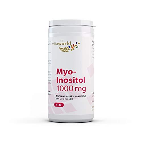 Vita World Myo-Inositol 1000 mg HOCHDOSIERT 120 Kapseln Apotheker-Herstellung Vegan