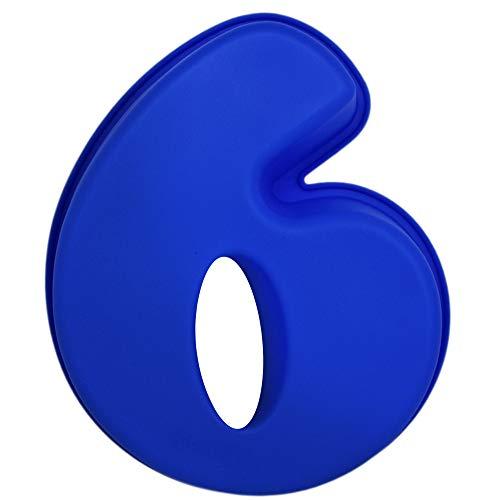 Matana Grande Molde de Silicona para Pastel (Números 0 1 2 3 4 5 6 7 8 9) - Antiadherente & Sin BPA| Apto para Lavavajillas y Microondas| Cumpleaños Aniversarios Niños Adultos (6)