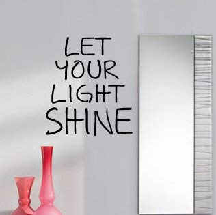 Let Your Light Shine Vinyl Wall Decal Home Decor