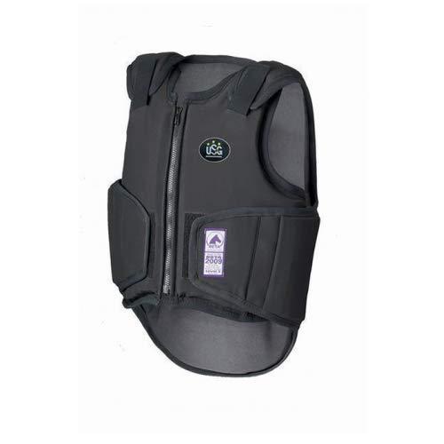 Equi Deluxe USG Sicherheitsweste Softshell Flexi Evolution | hochwertiges Softshell Material, verbesserte Beweglichkeit, Klettverschlüsse, Reißverschluss, Größe verstellbar, Level 3 (XL)
