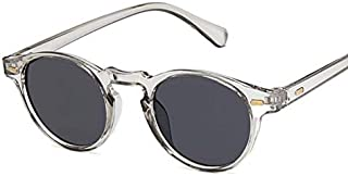 YDMZMS - Gafas de Sol de Ojo de Gato ovaladas Retro Hombres Mujeres Gafas de Sol de diseñador de Marca Vintage para Hombre Mujer Uv400 Gafas de Espejo de conducción