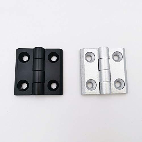 WHLJKN Scharnier,10 Stück Aluminium Profil Industrie Schrank Standard Metall Silber Weiß Schwarz Zinklegierung Scharnier, 3030 Silber (10 Stück)