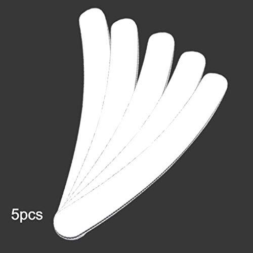 Coner 5 stks grijze boot professionele nagelvijl schuren buffer blok pedicure manicure polijsten polish beauty tools, gebogen vorm 5 stks