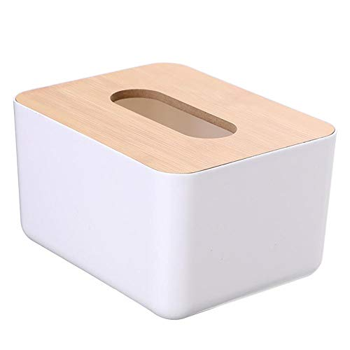 NA Kosmetiktuchbox mit Bambusabdeckung, für den Schreibtisch