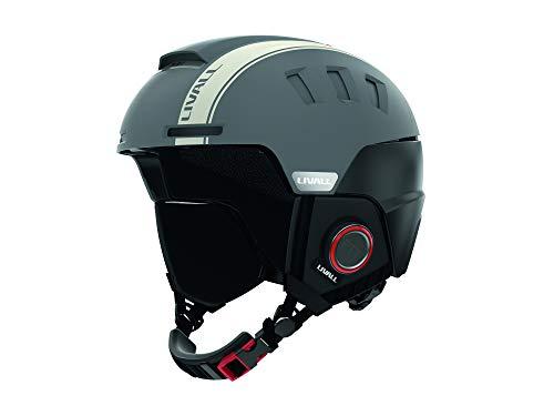 Livall RS1 ski-helm voor volwassenen, 54-58 cm, grijs, maat 54-58