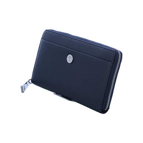 Joop! Geldbeutel Chiara Yura aus Leder Damen Geldbörse mit Reißverschluss, Blau (Blau (Dark Blue)), 1.0x10.0x19.0 cm (B x H x T)