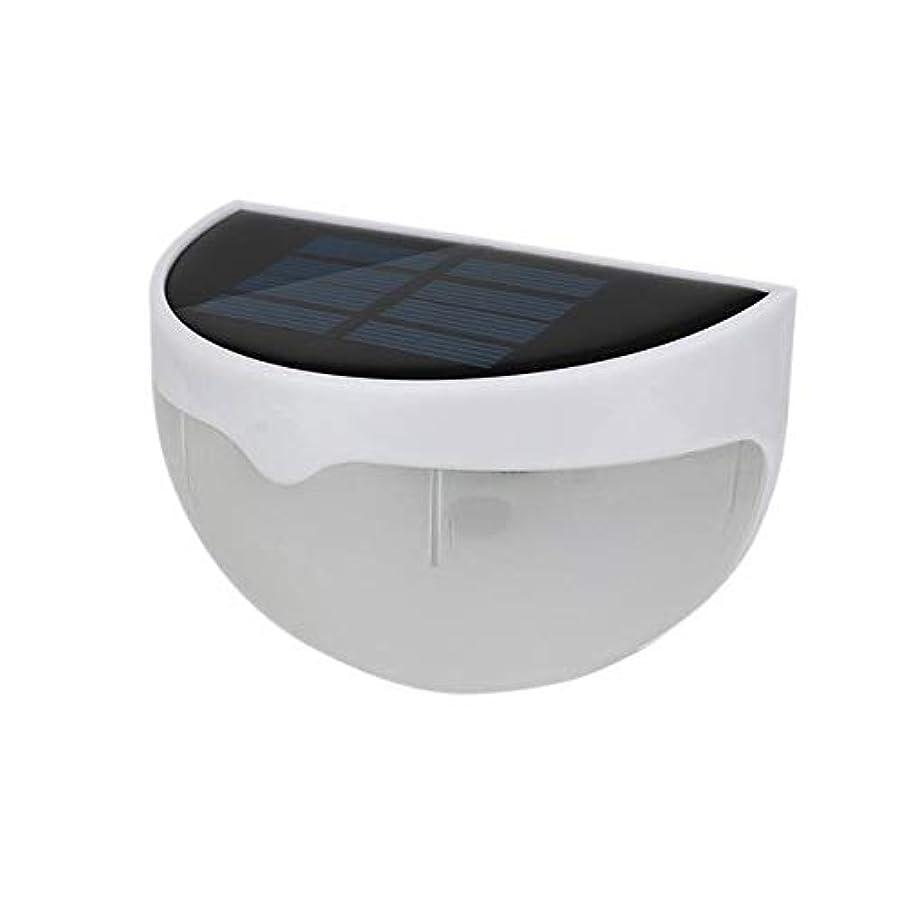 誘惑する代数的カプセルXIXI LEDソーラーライト屋外防水センサーライト6LEDsウォールランプのための庭パスの回廊 (Emitting Color : White light)