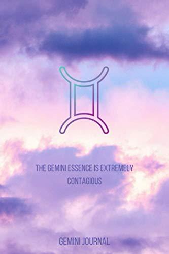 Gemini Journal: Lined Writing Journal (Zodiac Purple Sky Set)