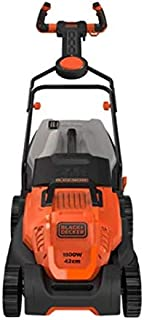 Black+Decker 1800W 42cm Easy Steer Lawn Mower for Lawn & Garden, Orange/Black - BEMW481ES-GB, 2 Years Warranty