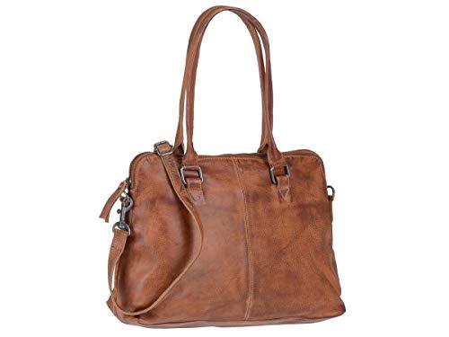 Bear Design Schultertasche Handtasche Tasche Leder Callisto Pelle Cognac