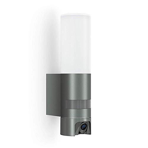 Steinel L 600 Cam-cameralicht: buitenlamp, intercominstallatie, bewakingscamera, infrarood bewegingsmelder, aluminium, 14,3 W, antraciet