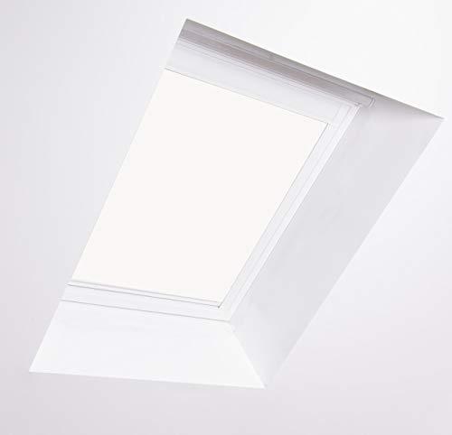 Bloc Jalousien für Dakstra Dachfenster, weißer Aluminiumrahmen Verdunkelung, S6A