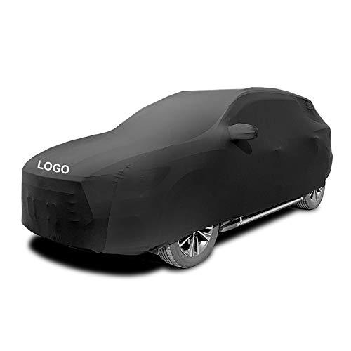 LCYNCX Fundas para Coche Compatible con Mercedes Benz GLB200d AMG, Elástica Y Transpirable, A Prueba De Polvo, Suave, Terciopelo, Utilizada En Garajes Subterráneos, Ferias De Automóviles Negro