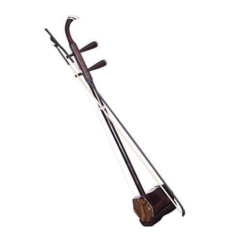 Erhu Chinesisches Nationales Musikinstrument Professionelles Spielendes Musikinstrument Anfänger Kinder Erwachsene Universal Ebenholz Mit Verpackung Geschenke (Color : Brown)