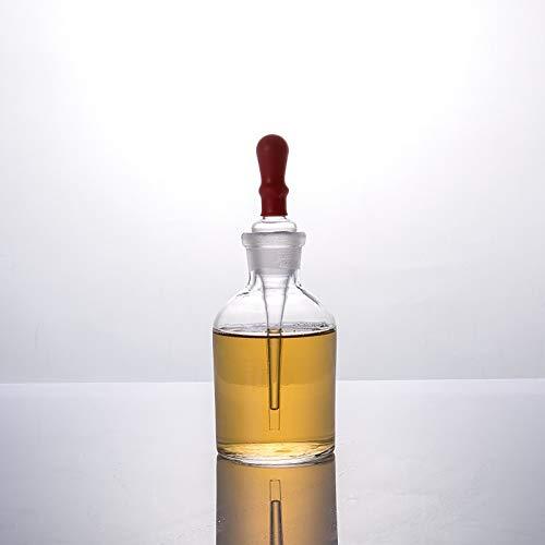 RWQRWQ Frasco Gotero De Vidrio, Frasco Transparente De Reactivo De Laboratorio, Aceite Esencial, Almacenamiento De Reactivos QuíMicos, Equipado con Gotero, 10 Pcs,125Ml-A