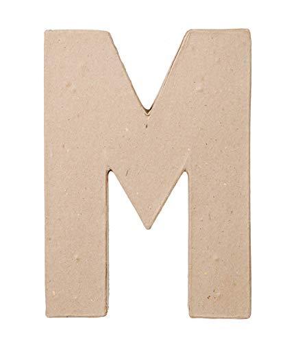 Darice Paper Mache Letter  M  8 x 55 x 1 inches