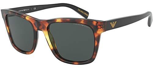 Emporio Armani 0EA4142 Gafas, Honey Havana/Grey, 55/19/145 para Hombre