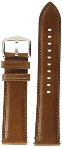 Fossil 22mm Leather Watch Band, Color: Dark Brown (Model: S221453)