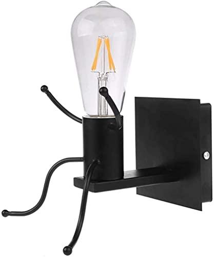 LXDZXY Lámparas de Pared, Aplique de Pared Vintage Lámpara de Pared Industrial Retro Creativo Aplique de Pared Lámpara E27 Base para Mesita de Noche de Dormitorio, Pasillo, Escalera, Foco de Pared Ne