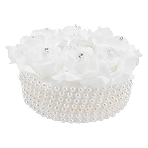 VALICLUD Stylish 1Pc Hochzeitsring Pillow Kissen Creative Bridal Ring Case Wedding Supplies