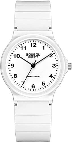 Reloj de pulsera, Reloj de cuarzo casual de estilo universitario para estudiantes medios y universitarios, color de caramelo, cara digital, hombre y mujer, reloj, estudiante, 3ATM Impermeable, 5 color
