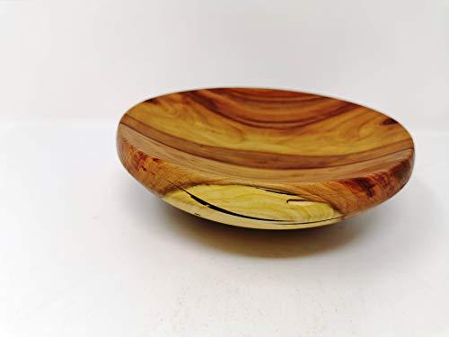 Holzschale rund aus Pflaumen/Zwetschgen Holz - ∅ ca. 20 cm - H: ca. 6 cm handgemacht gedrechselt Schale Obstschale