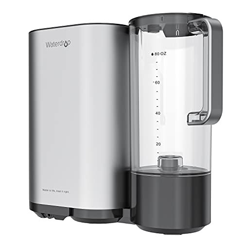 Waterdrop Countertop Reverse Osmosis Water Filtration System with Water Pitcher, 5 Stage All-in-One RO Water Filter, TDS Reduction, No Electricity (Need Installation)