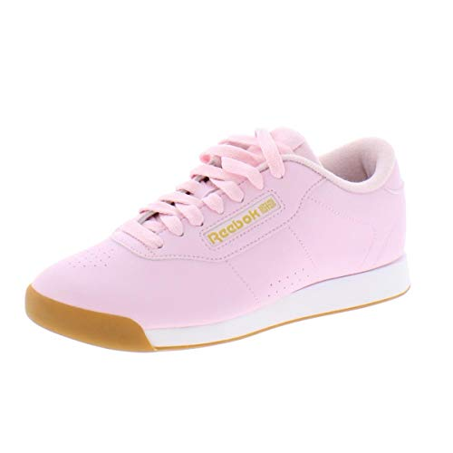 Reebok Women's Princess-Sneaker, Pink/White/Gold Metallic, 6 M US