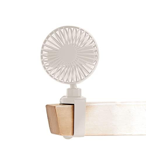 Lleve un pequeño Estilo Recargable USB pequeño Ventilador eléctrico Dormitorio Estudiante Junto a la Cama litera Superior Escritorio de Verano Ventilador Recargable USB portátil al Aire Libre pequeñ