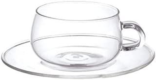 KINTO (キントー)  UNITEA カップ&ソーサー 230ml ガラス 8330