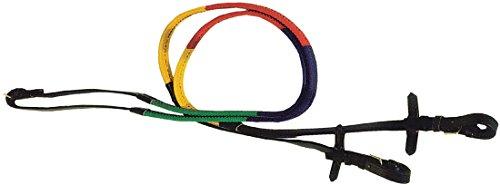 AMKA Gummizügel mehrfärbig bunt Ausbildungszügel Trainingszügel Gummi Rainbow Rubber Reins