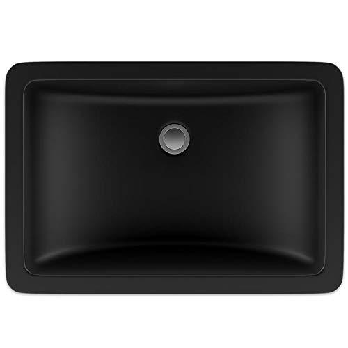Lexicon Quartz Composite Rectangle Vanity Sink - Black