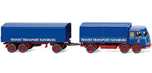 Wiking 042902 Pritschenhängerzug (MB LP 333) Kein Spielzeug!! Miniaturmodell/Sammlerartikel !!