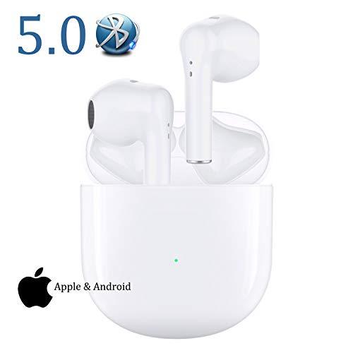 Bluetooth-Kopfhörer Wireless 5.0 Bluetooth IPX5 wasserdichte Ohrhörer 3D-Surround-Sound-Kopfhörer Sportkopfhörer Integriertes Mikrofon In-Ear-Kopfhörer für Apple Airpods/Android