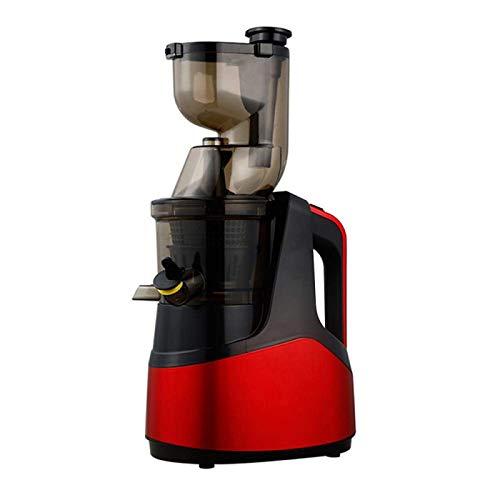NLRHH Juicer Juicer Slow Tornillo Frío Presione Extractor FilterFree Fácil Lavar Fruta Eléctrica Ecuador Máquina Máquina Calibre Grande Rojo Rojo Peng (Color : Red)