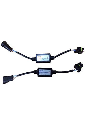 Decodificadores Canbus 12V H4 H7 H11 H8 9005 9006 Bombilla LED Para Faros Delanteros De Coche Sin Errores Advertencia Cancelador Condensador Resistencia De Carga Fácil Instalación